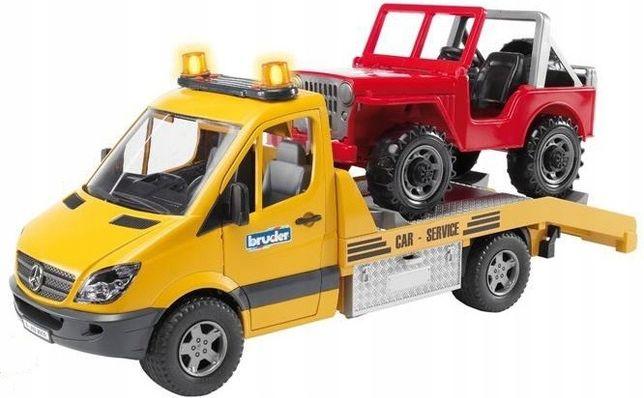 BRUDER 02535 Mercedes Benz pomoc drogowa z Jeepem