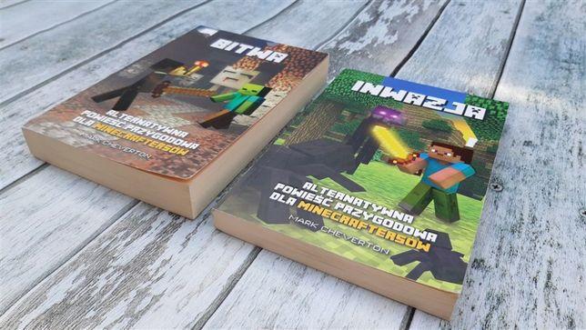 Inwazja + Bitwa. Mark Cheverton. Minecraft, 2 tomy książki
