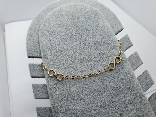 Bransoletka złota 19 cm