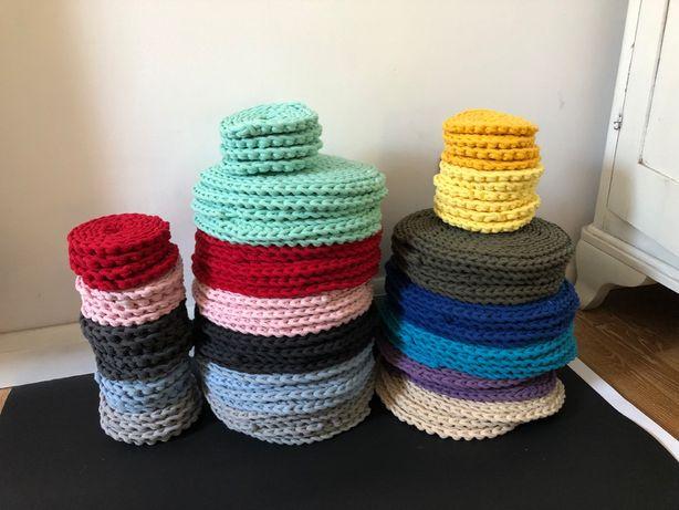 Podkładki ze sznurka bawełnianego + pod kubek