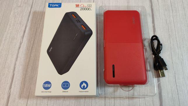 Повербанк TOPK 20000 mAh QC3.0/PD