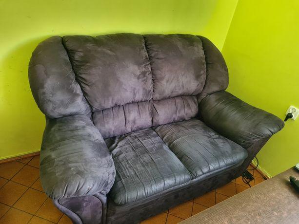 Sofa 2 osobowa, welurowa..