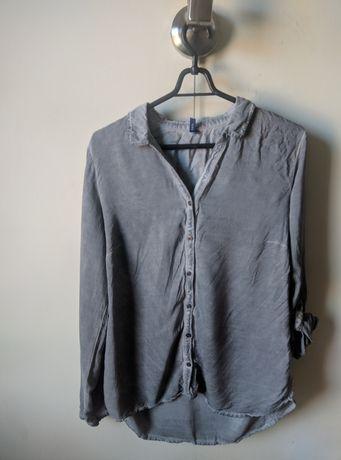 Szara damska koszula Cecil we włoskim stylu (M)