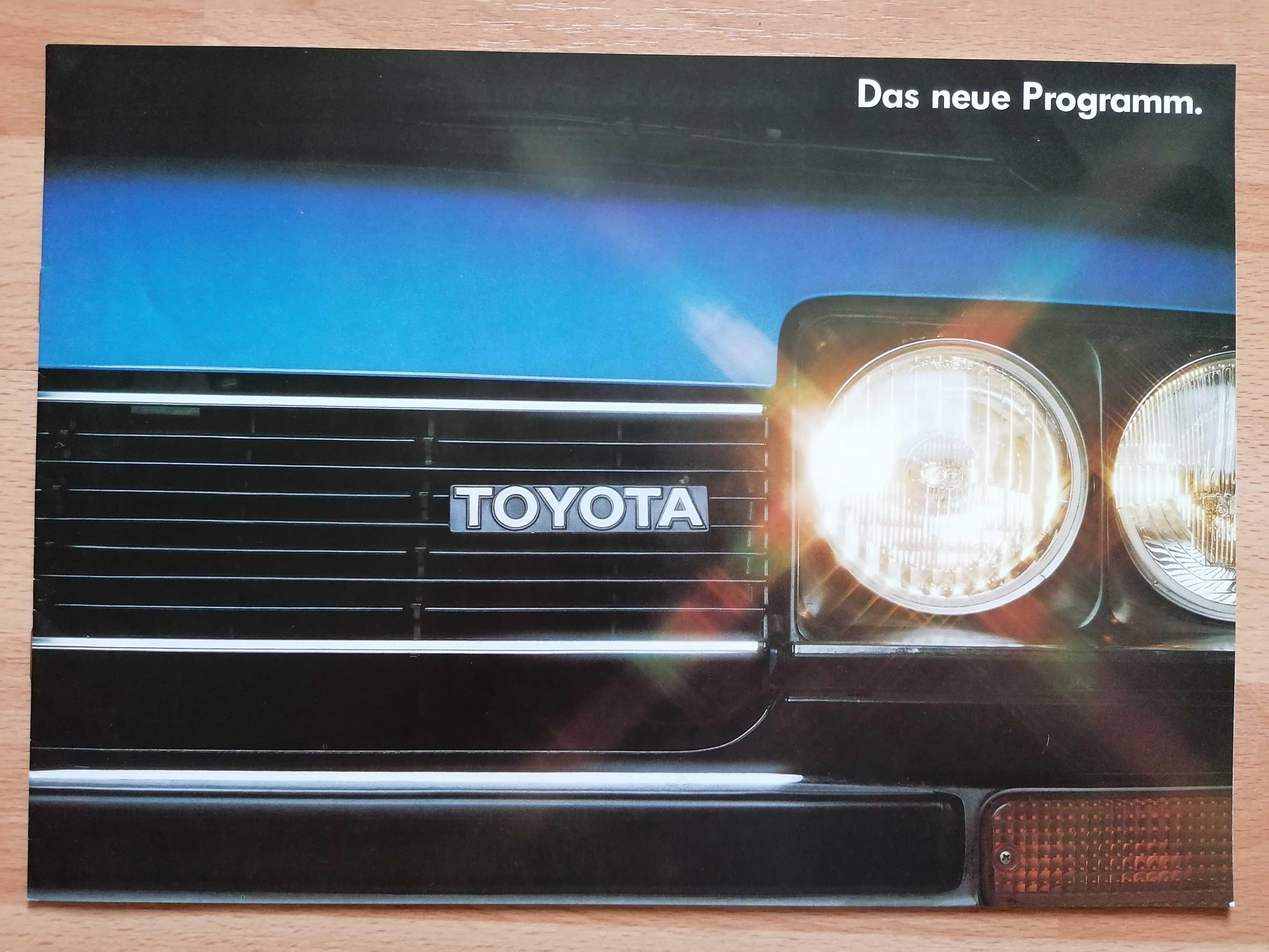 Prospekt Toyota Starlet Tercel Corolla Celica Carina Corona Cressida