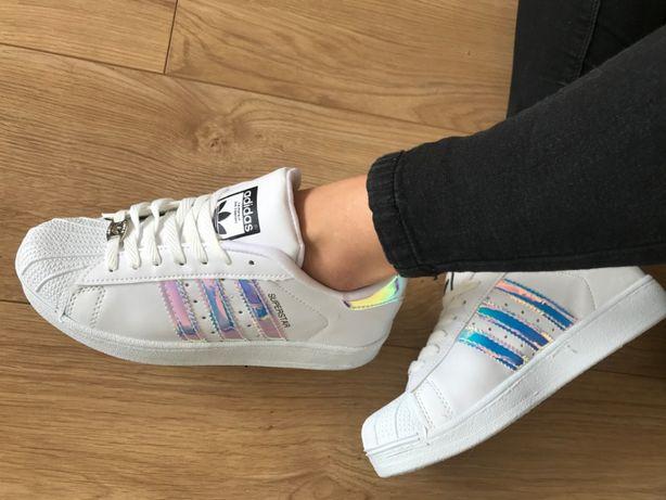 Adidas Superstar. Rozmiar 40. Białe - hologram. Super cena!