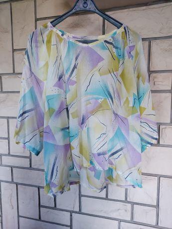 Bluzka przewiewna kolorowy wzór