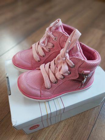 Buty różowe dla dziewczynki  trzewiki 21 coolclub