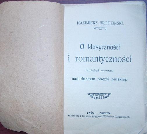 O klasycznosci i romantycznosci 1892 (K. Brodziński)
