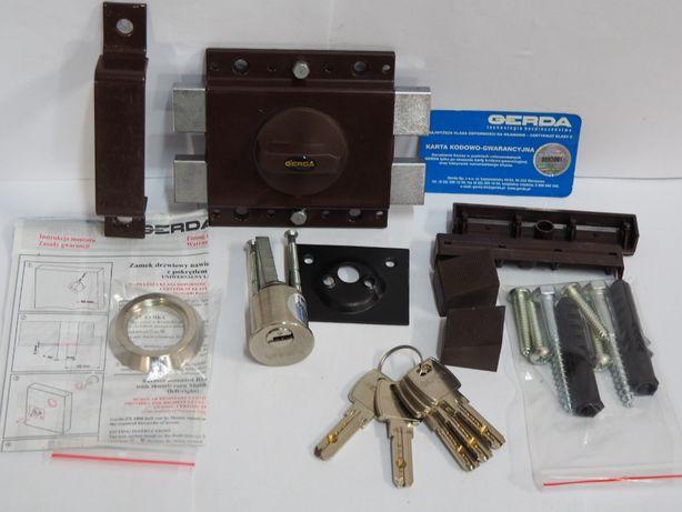 GERDA ZX 1000 zamek do drzwi antywlamaniowy wierzchi -5 kluczy !