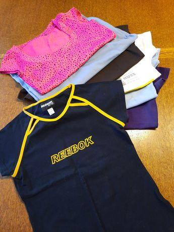 FIRMOWE t-shirt koszulki bluzki sportowe r.38/40 M/L