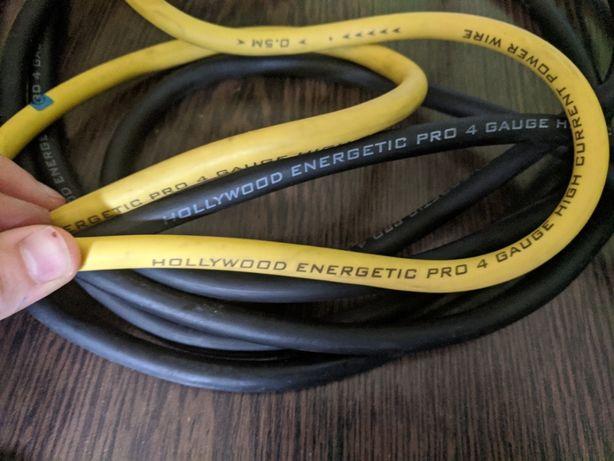 Кабель силовой Hollywood PRO PCY 4бескислородная медь (4GA, желтый, че