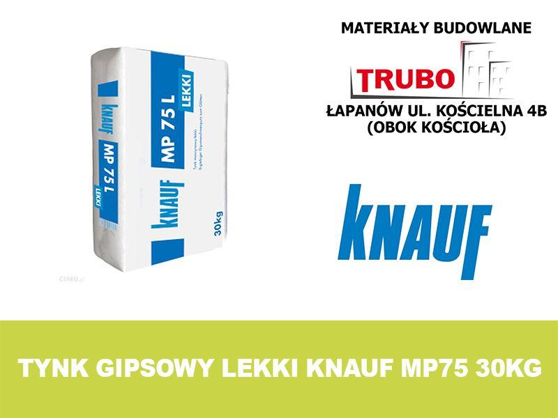 Knauf MP75L tynk gipsowy maszynowy lekki 30 kg Łapanów - image 1