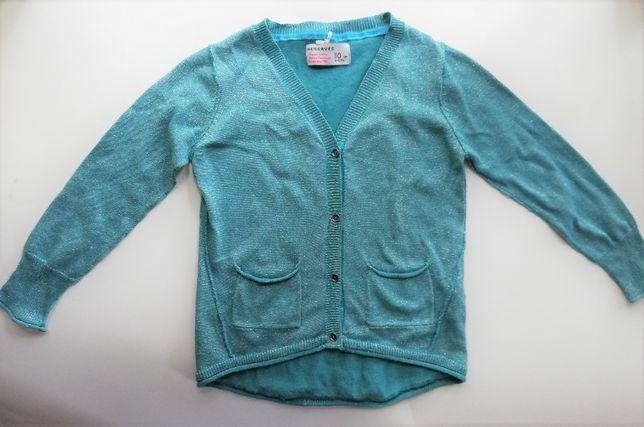 Śliczny morski sweterek RESERVED - rozmiar 110 cm na 4-5 lat.
