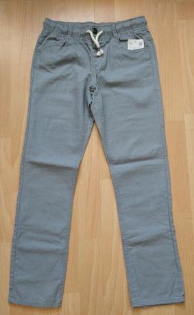 Letnie lniane spodnie 140 C&A