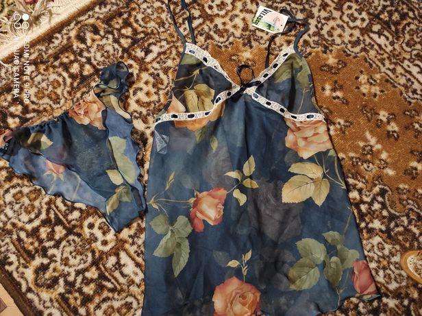 Жіноча піжама женская пижама маечка набор спальный