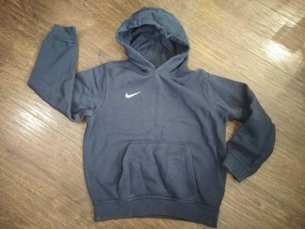 Bluza Nike granat ciepła bawełna 134 146