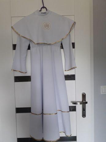 Alba komunijna, piękna, sukienka, dodatki gratis, rozm. 134/140