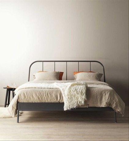 Łóżko IKEA KOPARDAL rama dno Lonset materac MORGEDAL 140x200