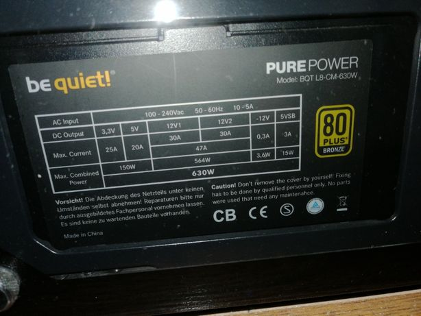 Zasilacz Be Quiet! Pure Power L8 630w