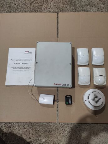 Сигнализация Smart Gsm 2 с датчиками для склада,офиса,дачи,дома