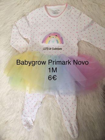 Babygrow algodão primark