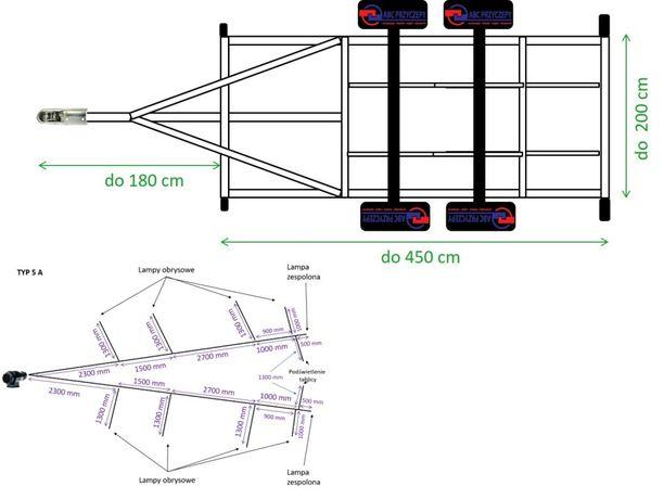 Wiązka gotowa instalacja 12-24V do lawety przyczepy do 4,5 m Przewody