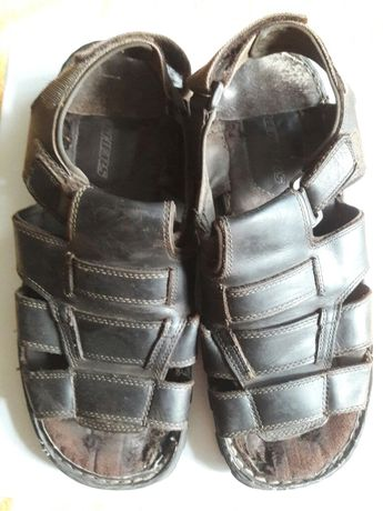 Сандали кожаные, бренд -  Skechers, супер модные, кожа натуральная