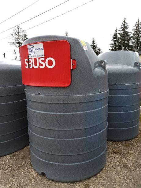 Zbiornik na olej napędowy SIBUSO 1500L lub 2500L, DOSTAWA NA CAŁY KRAJ