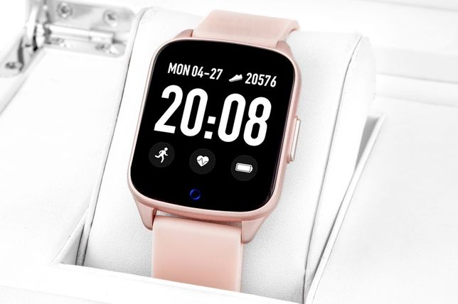 Smartwatch Rubicon 42 róż kroki puls PROMOCJA
