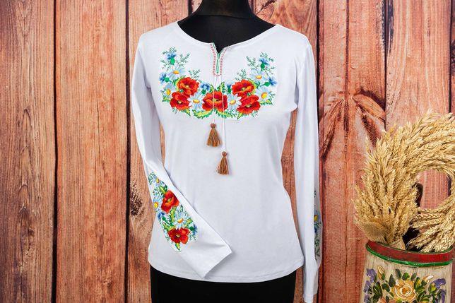 J07 haftowana bluzka folk ludowa góralska  XS,S,M,L,XL,2XL,3XL,4XL