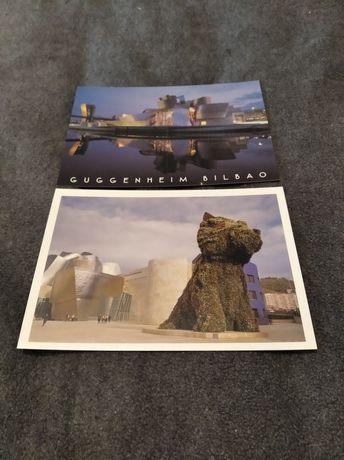 2 postais do GUGGENHEIN Bilbao