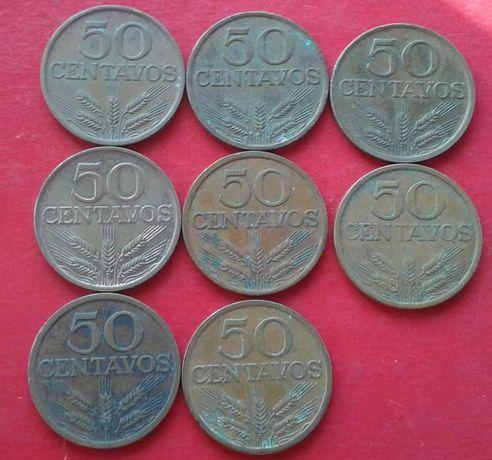 Moedas de 50 centavos da República Portuguesa