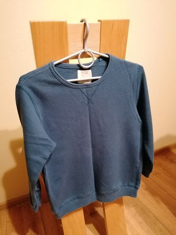 Bluza dresowa ciemnozielona