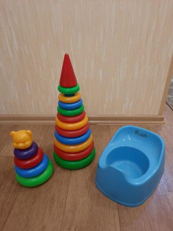 2 пирамидки + горшок в подарок