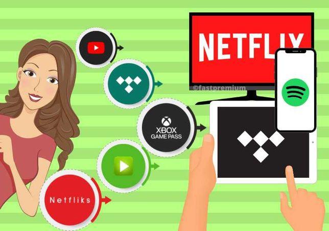 NETFLIX 30/60/90/180/360 | SPOTIFY | XBOX | HBO GO | 24h AUTOMAT