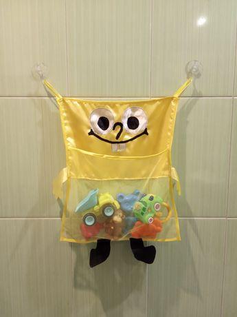 Органайзер, корзина для игрушек в ванную комнату