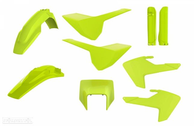 kit plasticos polisport amarelo fluor husqvarna fe / te