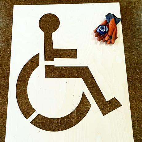 """Szablon malarski ze sklejki """"Miejsce dla osoby niepełnosprawnej"""""""