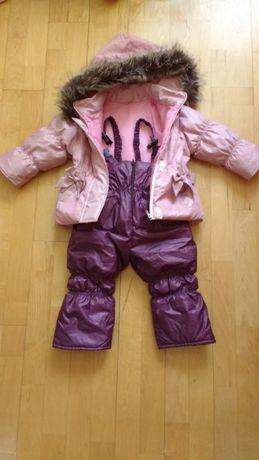 Komplet zimowy kurtka spodnie kombinezon r. 92