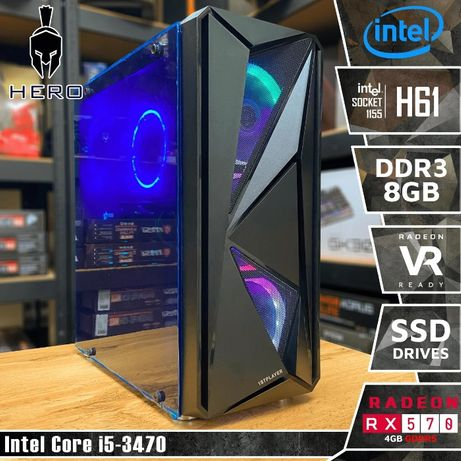 HERO I20! RX 570 4Gb, i5 3470, Intel H61, 8Gb DDR3, 120Gb SSD, 500W!