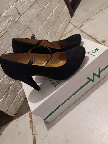 Туфли замшевые Benetton