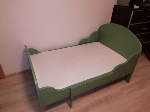 Łóżko dziecięce rozsuwane z materacem i dnem Ikea Trogen