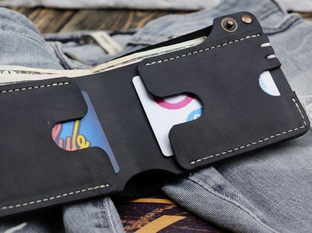 Кожаный кошелек.Бумажник-DoZ- ручной работы.
