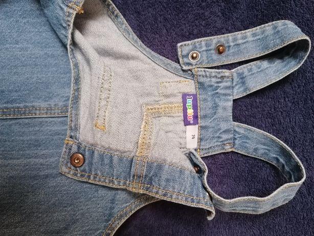 Jak NOWA jeansowa spódniczka ogrodniczka rozm. 74