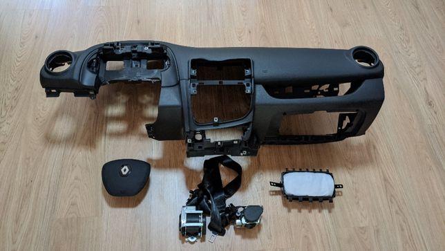 Conjunto Kit Airbags Renault Clio 4 Tablier Original