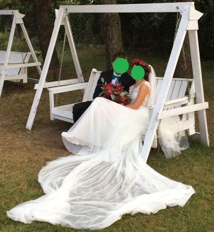 Suknia ślubna 3 częściowa+długi welon