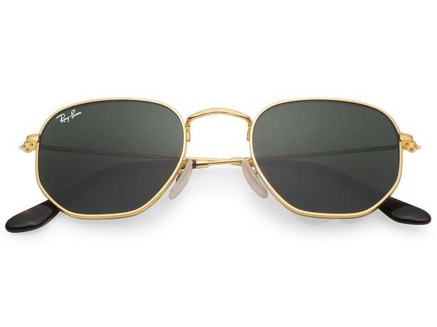Солнцезащитные очки Ray Ban RB 3548N Hexagonal Gold стекло комплект