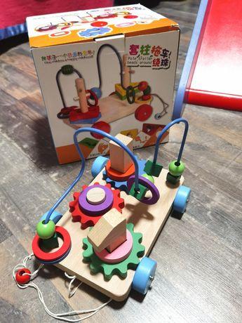 Деревянная игрушка, каталка, пазл, лабиринт, сортер
