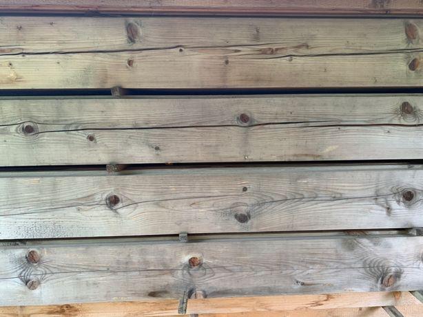 Drewniane płazy frezowane ścienne i belki stropowe świerkowe