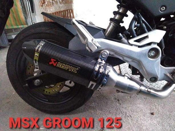 Linha escape Honda msx groom 125